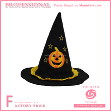 Personalized halloween polyester witch hat feather decorated for halloween favor