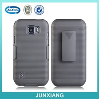 PC rugged double cell phone holster for samsung galaxy s6 active g890 case