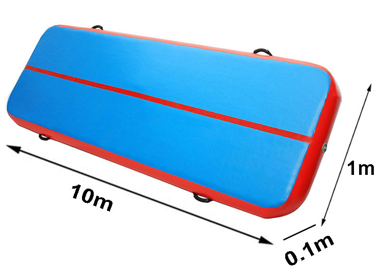 Red Blue Cheer Leading 10m inflatable long air track mat for sale