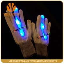 New Rainbow Flashing Finger tip LED Gloves Unisex led flashing gloves Light Up Glow gloves