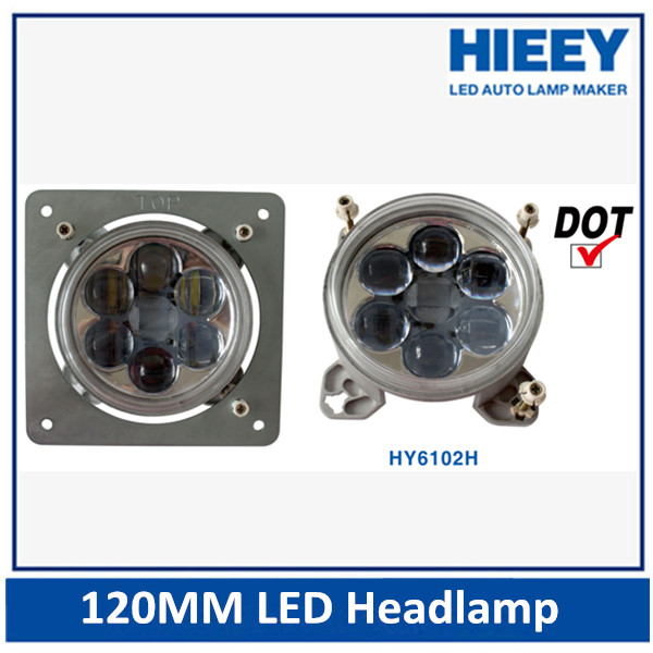 120MM led round projection light 4 inch led headlight for truck and trailers 12/24V round headlight led bus headlight
