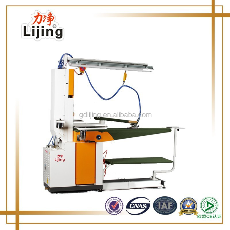 Commercial Laundry Finish Equipment Multifunctional clothes Steam Iron Table with Inner Boiler