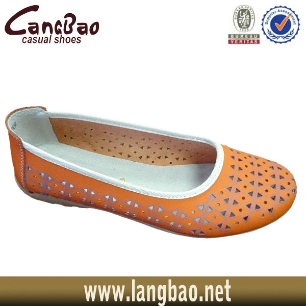 2013 women leather flat shoes 13005