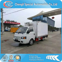 JAC mini freezer box truck,120hp,diesel engine