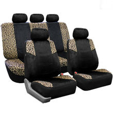 Velvet Tan lepord Classical pattern priting car seat covers fit for almost cars