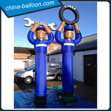 Hot sale inflatable car machanic sky guy/ inflatable tyre man/ inflatable air dancer