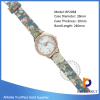 Low price dress watch ,Low price Customized Exporter PU Leather Wristband watch ,printing watch
