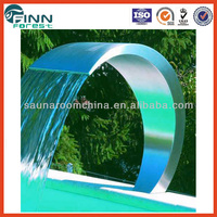 Stainless steel Pool shower decoration and water spa massage indoor artificial waterfall