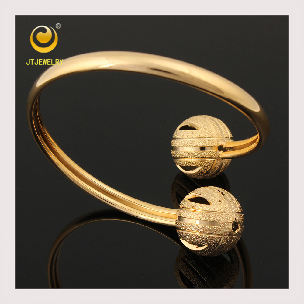 2015 good quality new indian 18k solid gold plated hand jewellery bangles