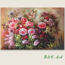 Factory Direct Sale Canvas Flower Oil Painting for Wall Hanging