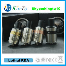 new design hot selling item with wholesale price lethal rda atomizer best clone from kingtu