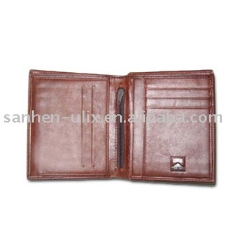 Men's Wallet, Made of Genuine Leather, Measures 4-3/4 x 4-1/4 Inches