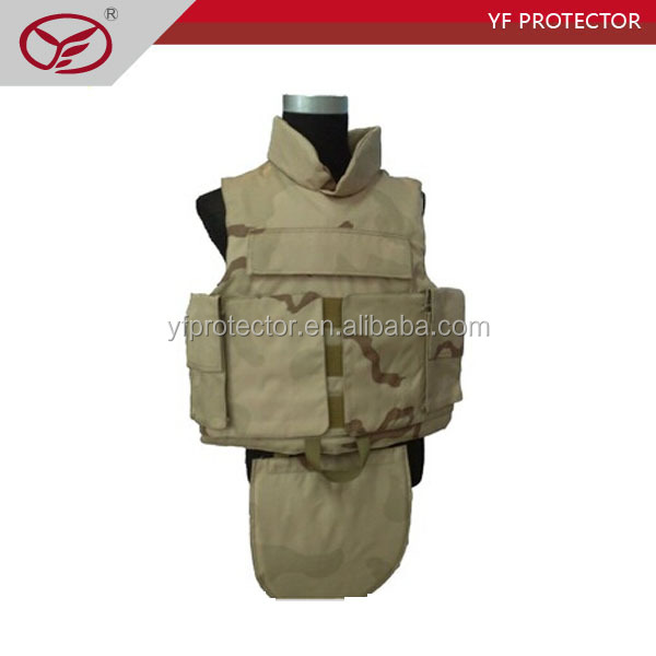 Kevlar Full Body Bulletproof Molle Vest With Gorin Protection/Full Body Bullet Proof Vest/ Full Body Armor