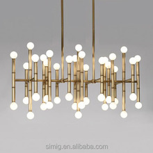MODERN bamboo style E14 gold chrome color chanderlier fancy pendant light with customization