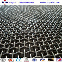 galvanized heavy duty steel locked double crimped wire mesh Exporter ISO9001