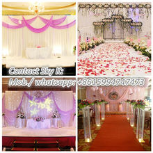 creative handmade gifts telescopic pipe and drape for Wedding decoration
