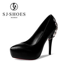5476 direct factory price red womens metal strape decorated dress shoes popular brands for female