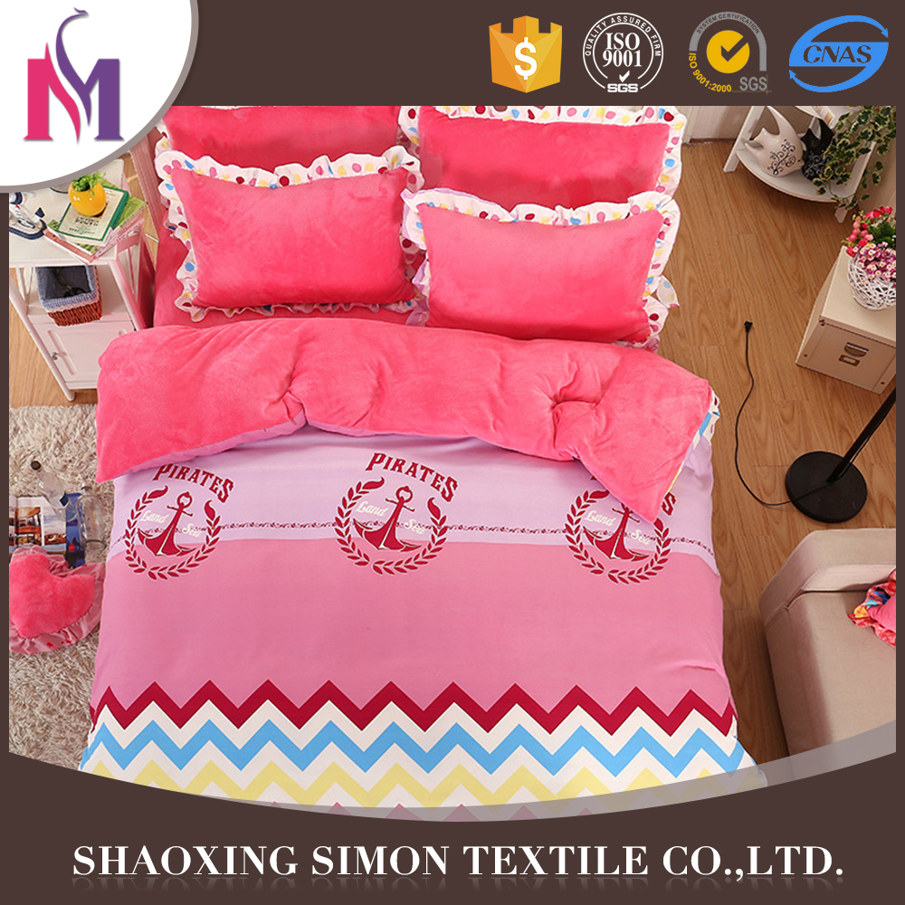 Top Grade Simon Emboss Flannel Bedsheet Baby Crib Fabric For Bedding Set
