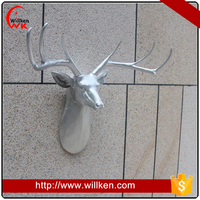 Indoor decorative polyresin Artificial resin deer antler wholesale