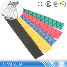 colorful high quality Insulation 2:1 baseball bat handle non slip single wall heat shrink tubing