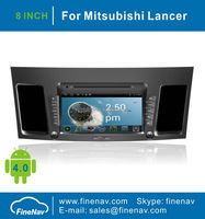 8inch Android4.0 HD digital screen Car DVD Navigation for Mitsubishi Lancer with Gps Navgigation, 3G/WifiBluetooth,Ipod,Free map