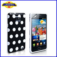 NEW Polka Dot soft TPU Gel Case Cover for Samsung Galaxy S2 i9100