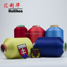Manufacturer Colorful Dope Dyed 30D DTY Polyester yarn For Label