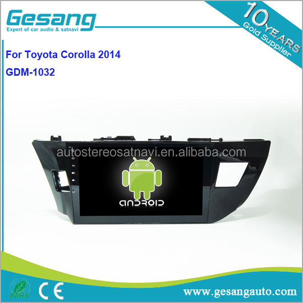 Factory Gesang HD touch screen Car audio and video for TOYOTA 2014 Corolla with Quad Core Rockchip 3188 1080P 16g ROM WiFi 3G