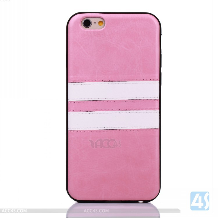 Stripe Back PU case for iPhone 6 , slim cases for iphone6 P-APPIPN6PCCA049