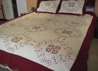 Poly Cotton Embroidered Quilt Set