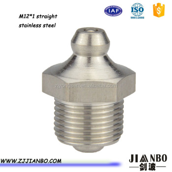 metric stainless steel grease fitting with M12*1
