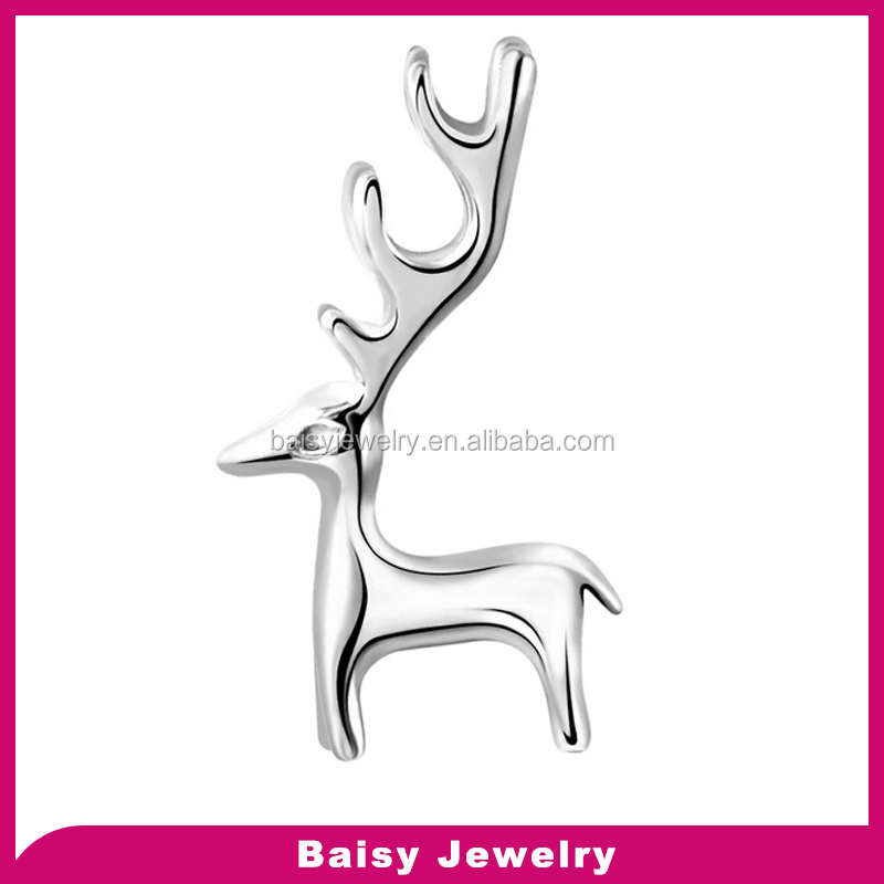New design latest fashion top quality 925 silver deer pendant neklace dear jewelry