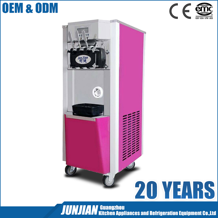 Pre-cooling 201 SS 3 Flavor Air Pump Used soft serve chinese commercial ice cream making machine for sale