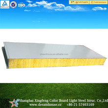 glass wool sandwich panel for roof and wall glass fiber wall panel/Shanghai glass wool metal roof sandwich panel