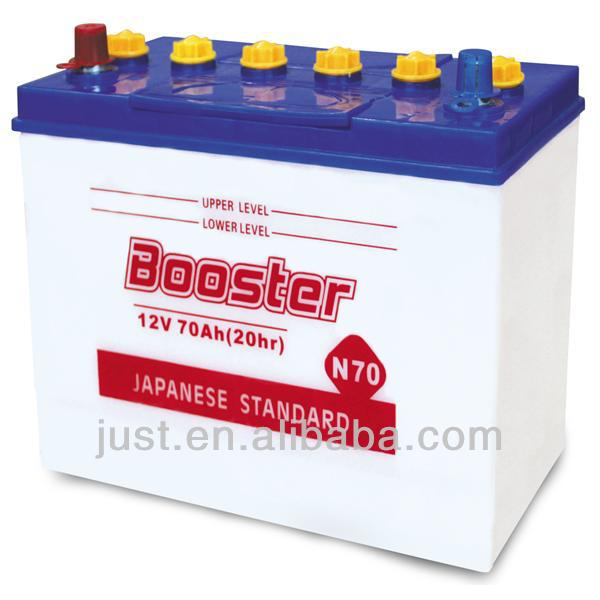 JIS Standard Dry Accumulator Battery 12V70Ah Lead Battery Plant
