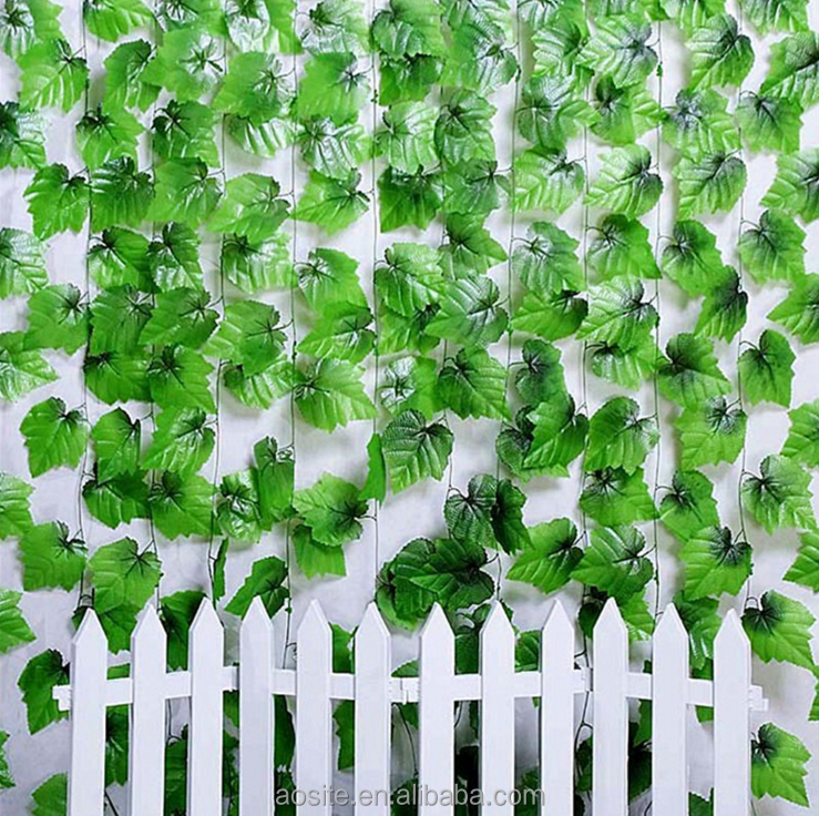 Wholesale wall hanging decoration artificial grape vine leaves