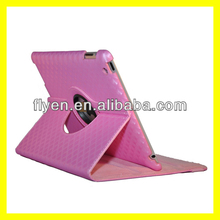 360 degree roating case for ipad 4 ipad 3 ipad 2 leather material diamond pattern smart cover with magnetic