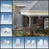 Ghana Hot Sale Plastic Rain Gutter/PVC rain water collector for drainage system