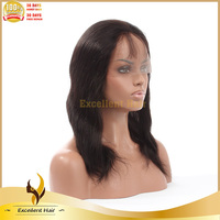 Free Shipping Silky Straight Wigs Virgin Brazilian Full Lace Wigs free Part Hairline For Black Women In Stock