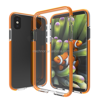 For iPhone X Case,Colorful Series Slim Hybrid Dual Layer Back Cover TPU Bumper Case for Apple iPhone X