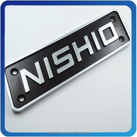 ABS Car Logo Name Sticker With Chrome Plate