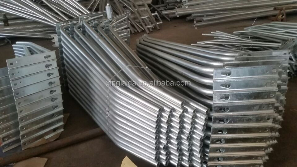 galvanized wall and pole mounted street light pole arms
