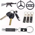 2017 New 100% Carbon Fiber Genuiem Leather keychain, carbon fiber bottle opener keychain