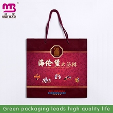 five stars coated wood free paper gift bag for red wine