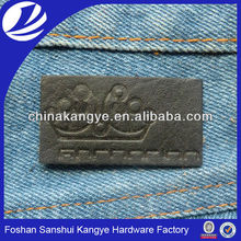 2015 Brand pu patch,label,label for clothing,debossed logo label LA-289