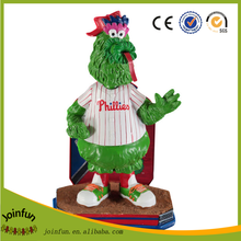 custom make 3d plastic American baseball mascot bobble head, 3d plastic baseball masoct shape bobble head