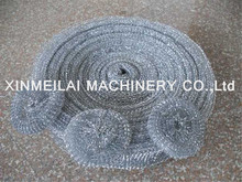 hot dipped galvanized scourer/steel wool mesh scrubber roll machine/dish/ pot cleaning pot