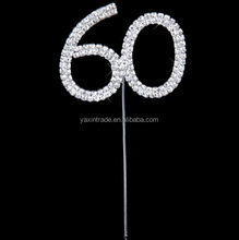 Number 60 Rhinestone Cake Topper For wedding birthday party