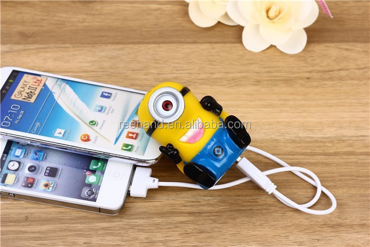 Cute cartoon shape Despicable me power bank 2600mah mobile charger for cell phone