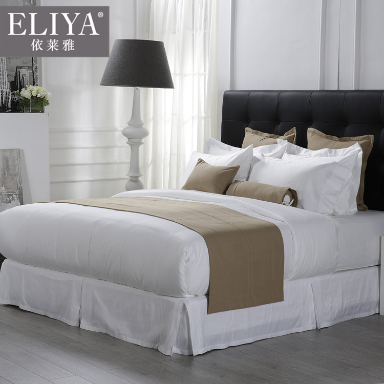 ELIYA Fringes modern dubai hotel bed sheet set/indian cotton hotel bed sheets/hotel sheet sets